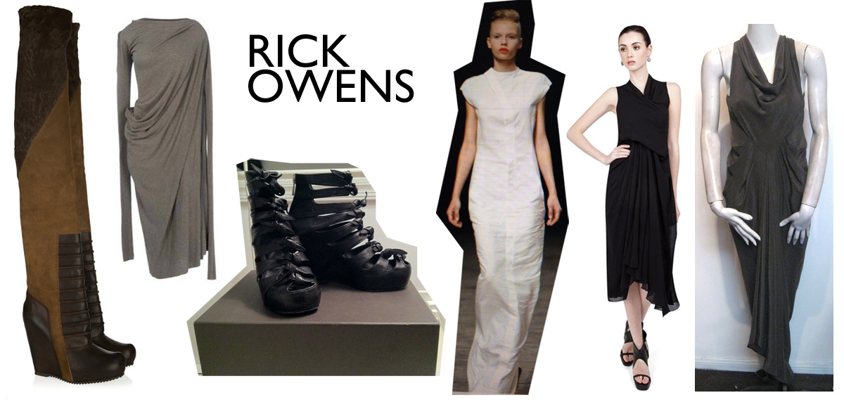 Shopping for Rick Owens via The Rosenrot | For The Love of Avant Garde Fashion