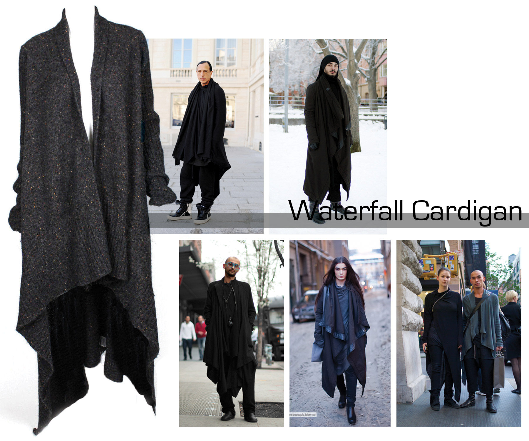 Rick Owens Waterfall Cardigan