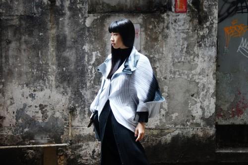 Issey Miyake APOC Inside Cardigan SS2011