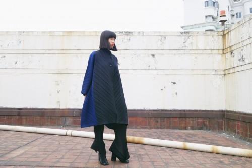 Issey Miyake Bergdorf Goodman Ombre Coat